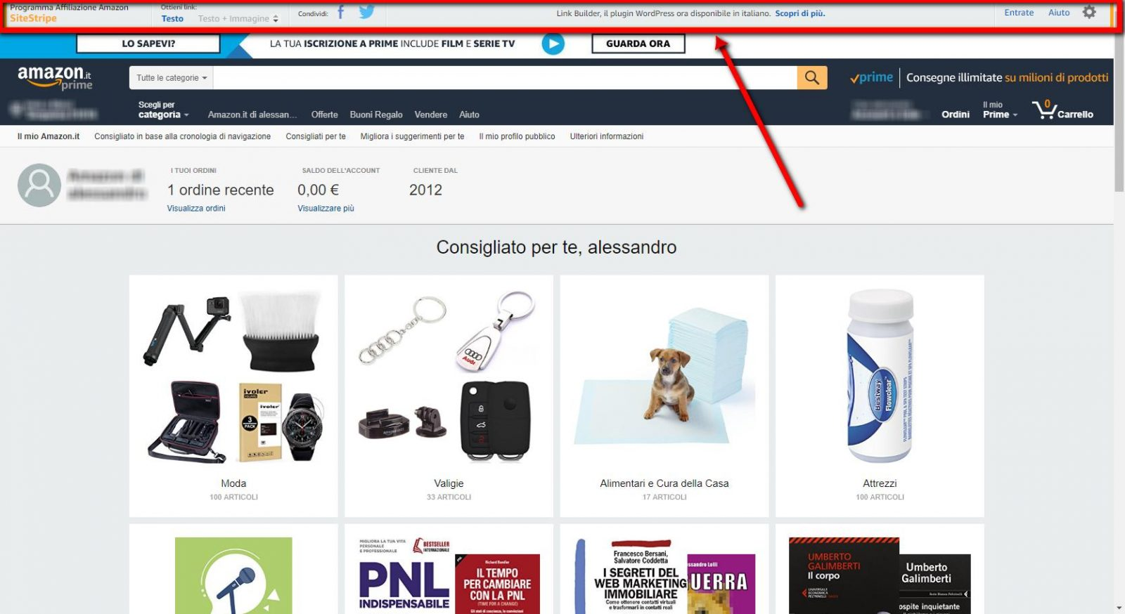 Site Stripe Affiliazione Amazon Gianluca Gentile