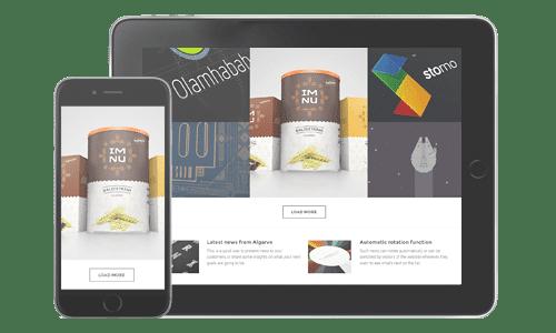 Design compatibile con smartphone e tablet