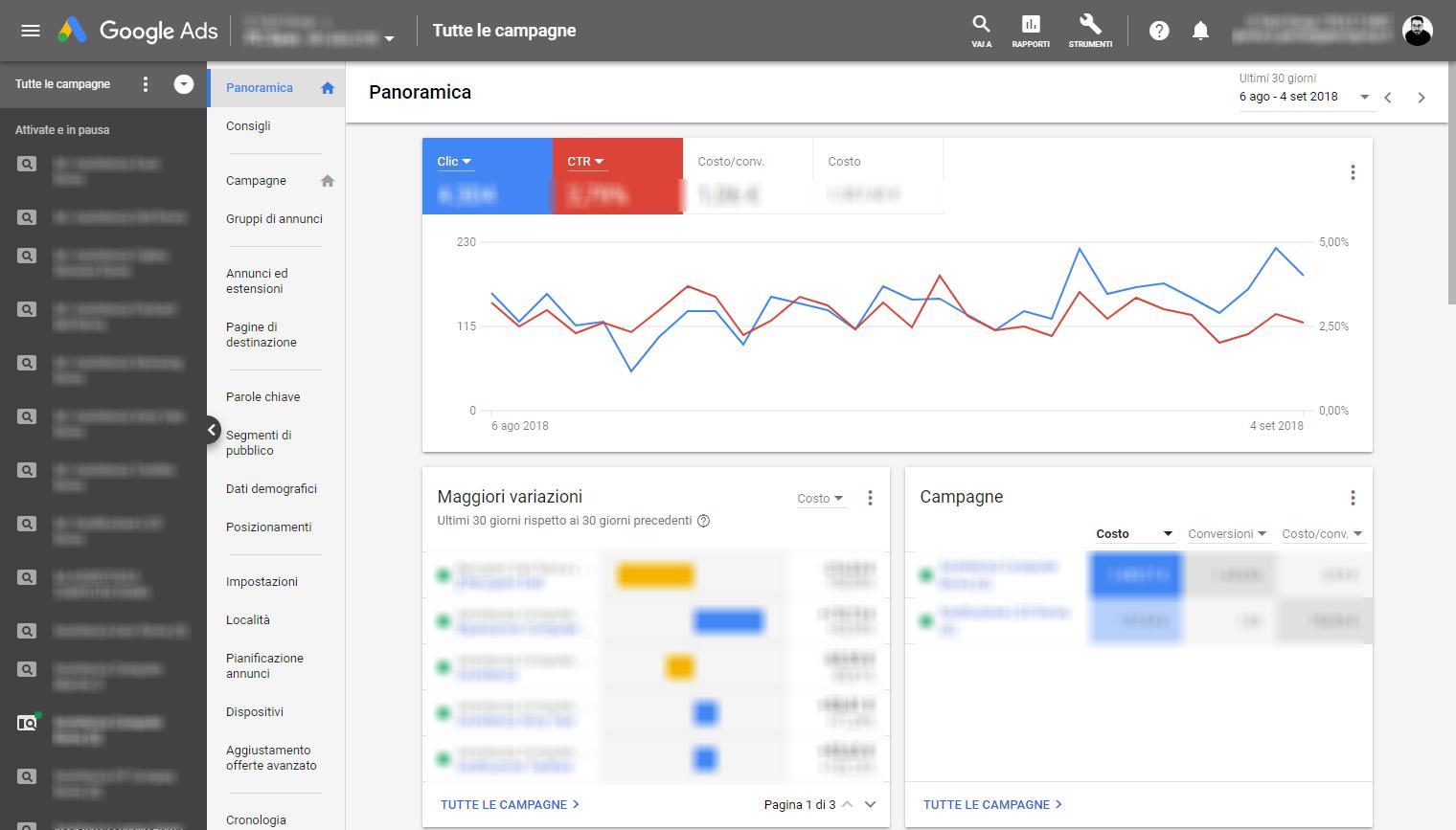 Nuova interfaccia Google ADS Gianluca Gentile