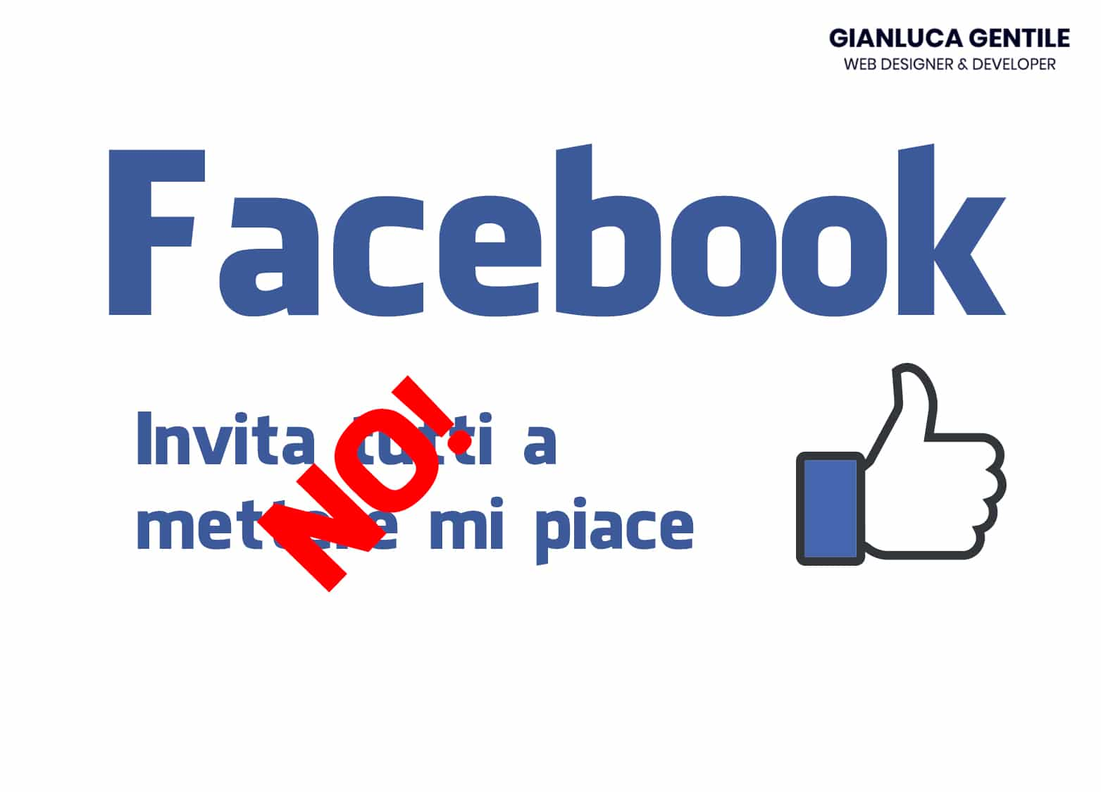 Gianluca Gentile Fan pagina Facebook basta a inviti random 20 Settembre 2018