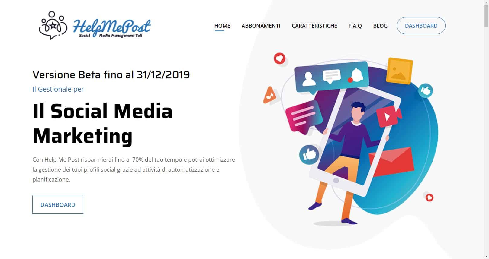 Gianluca Gentile Help me post Social Media Management Cloud Tool 14 10 Giugno 2019