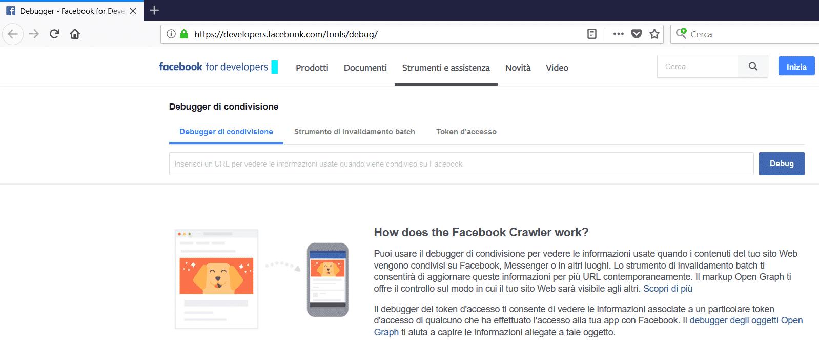 Facebook Link debugger